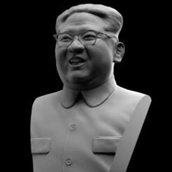 untitle80d.16.jpg Download OBJ file Kim Jong-Un Bust • 3D print design, brkhy