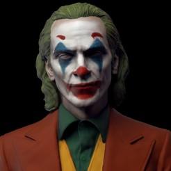 z.jpg Download OBJ file Joker - Joaquin Phoenix Bust v2 • 3D printing template, brkhy