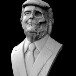 Download OBJ file Donald Trump Skull Bust • 3D printable model, brkhy