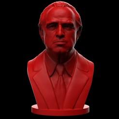 99untitle90d.9754588438.jpg Download OBJ file Vito Corleone - Marlon Brando - The Godfather 3d print model • 3D printable design, brkhy