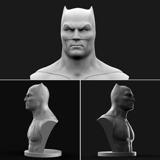 Download free OBJ file Batman Bust • 3D printer model, brkhy
