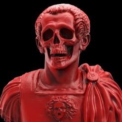 un99title8d.75.jpg Télécharger fichier OBJ Buste du crâne de César • Design à imprimer en 3D, brkhy