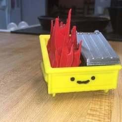 Modèle 3D gratuit Dumpster Fire Knockoff, dreddington