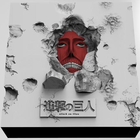 3D printer files The Wall Titans, Attack on titans (Shingeki no Kyojin), mefedef
