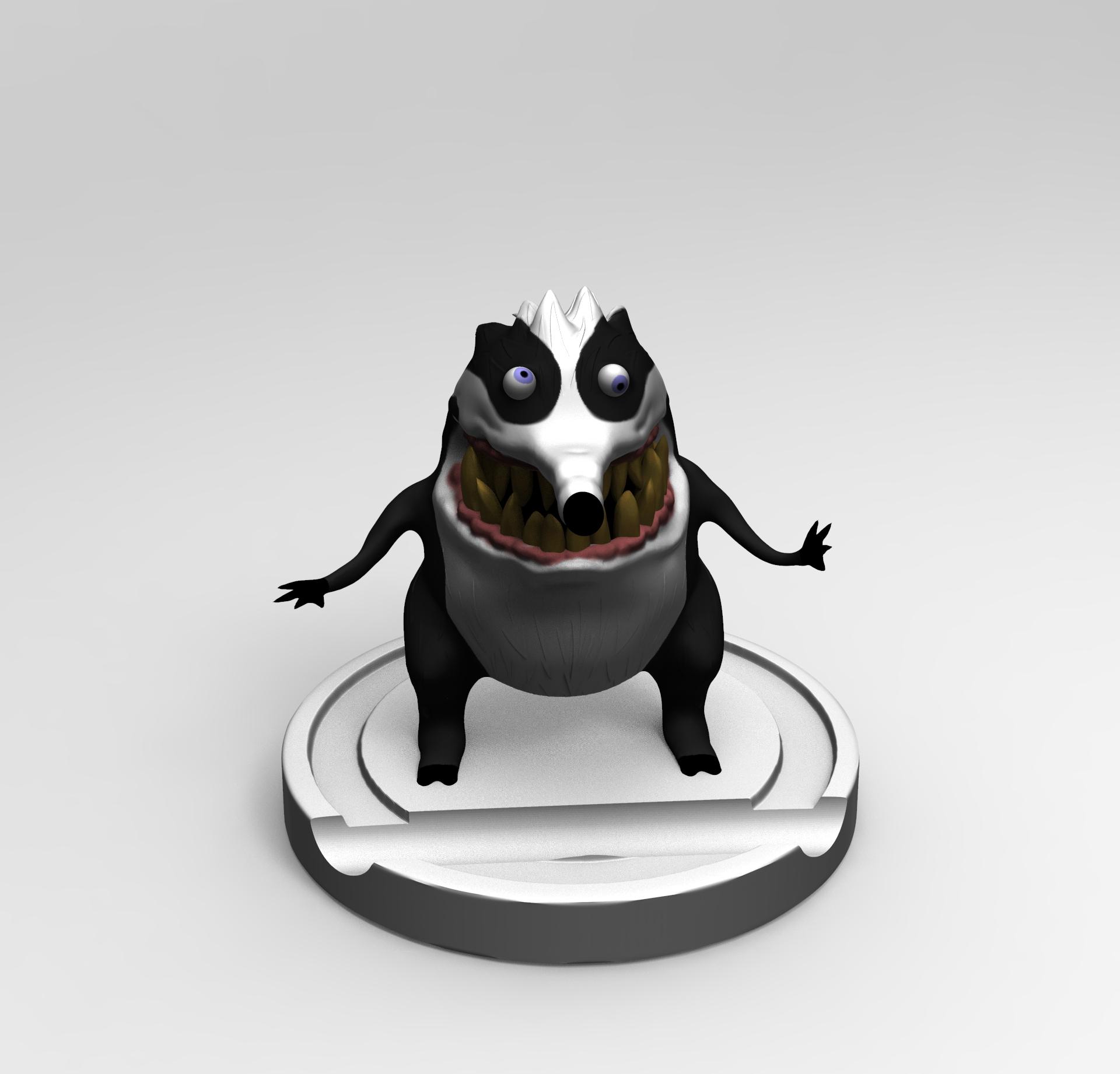 untitled.50.jpg Download free STL file Badger Woodpeaker • Template to 3D print, mefedef