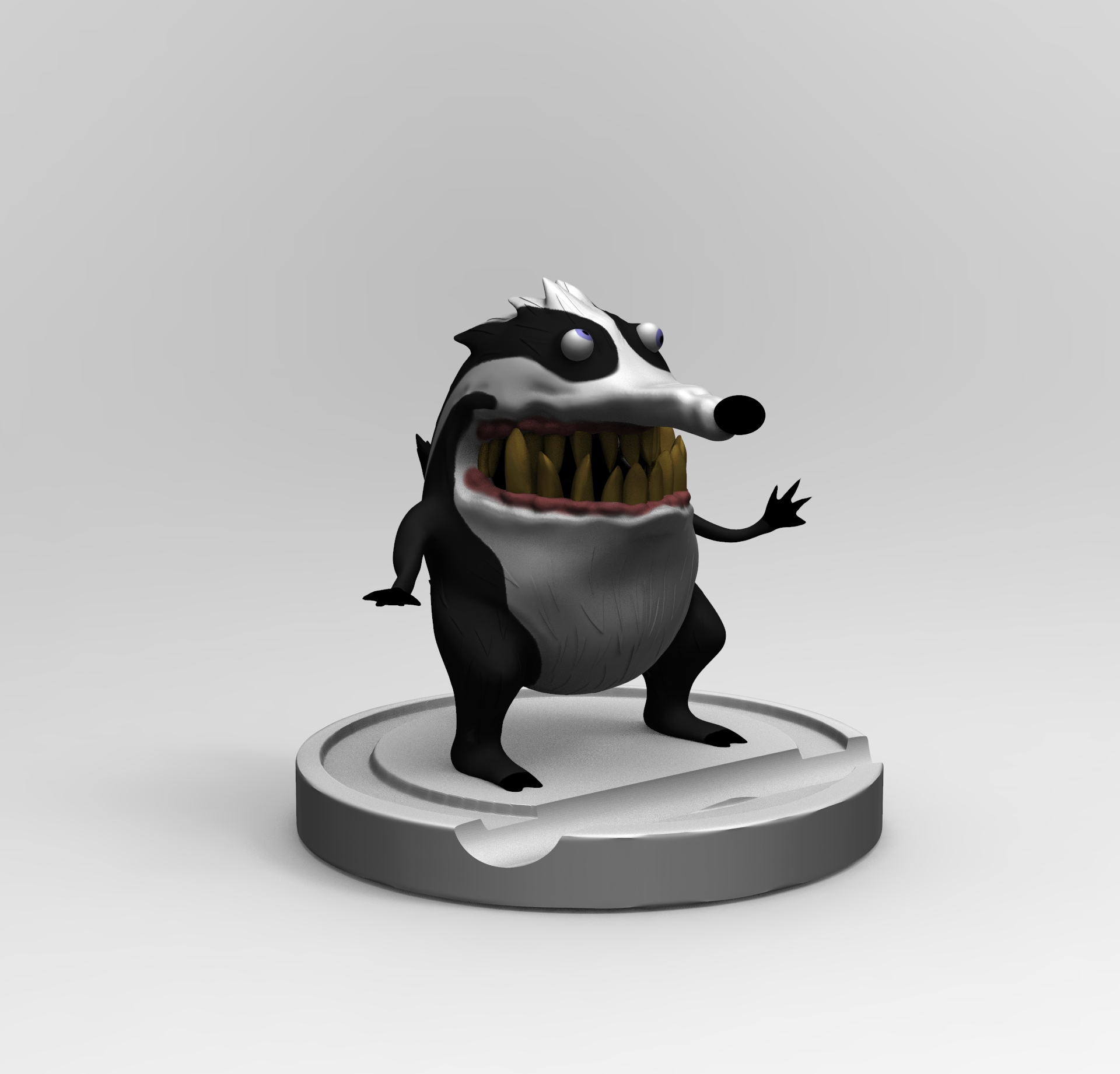untitled.49.jpg Download free STL file Badger Woodpeaker • Template to 3D print, mefedef