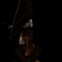 Descargar diseños 3D Pyramid Head Girl - Silent Hill Fan Art, mefedef