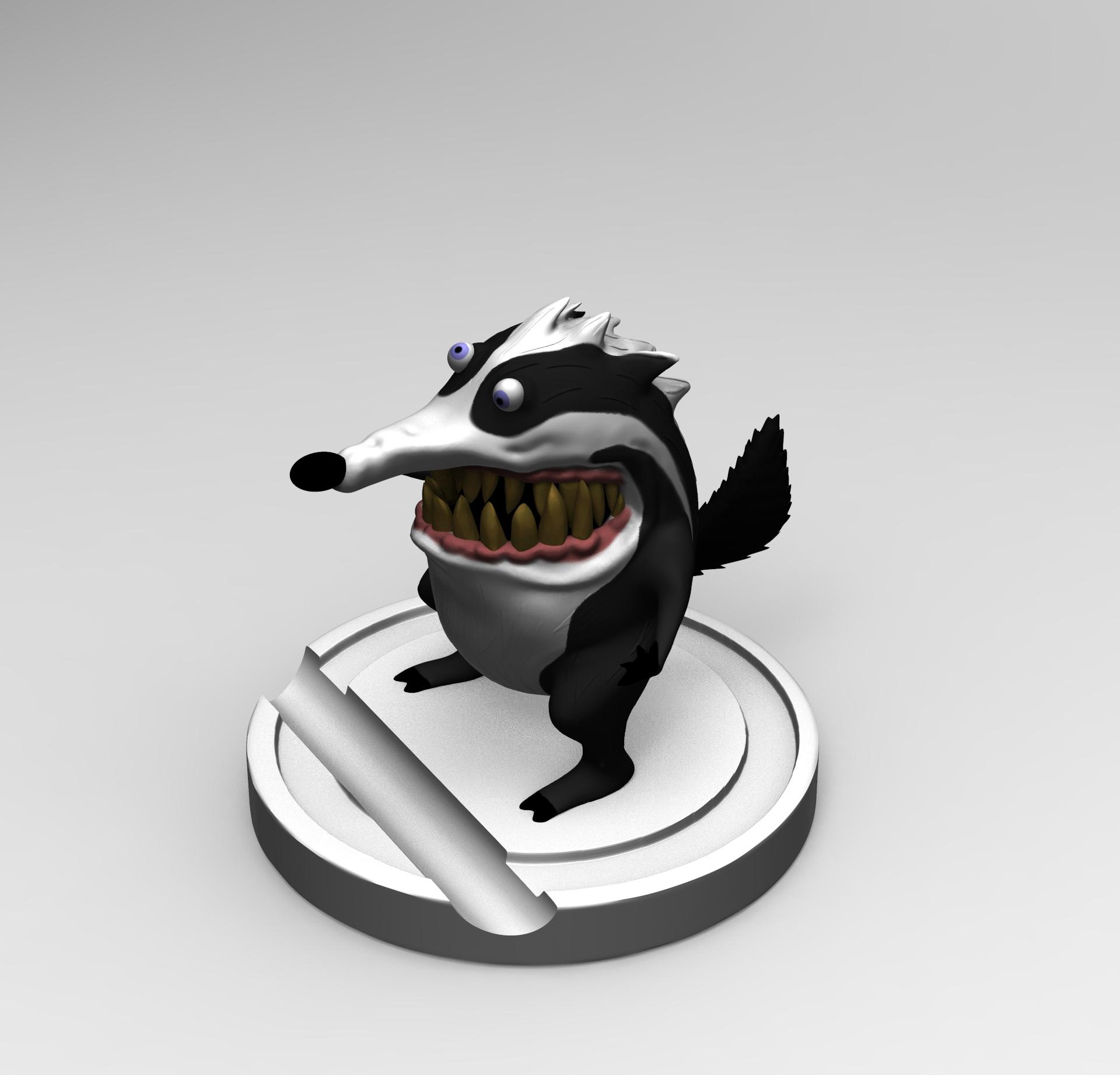 untitled.51.jpg Download free STL file Badger Woodpeaker • Template to 3D print, mefedef