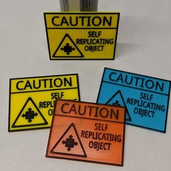 Cover.jpg Download free STL file 3D Printer Fringe Science Warning Sign • 3D printing design, _Icarus