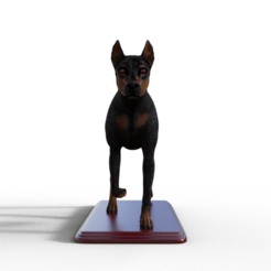 Download 3D print files Doberman on base, screw