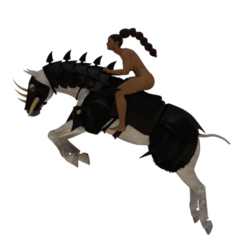 Download 3D printer files Nadia on her war horse, screw