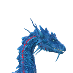 Download STL files Dragon bust, screw