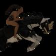 Télécharger objet 3D Nadia sur son cheval de guerre, screw