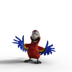 Parrot.png Download free OBJ file The little parrot ^^^ • 3D print design, screw