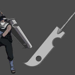 Download 3D printer designs Zabuza sword from Naruto Shippuden - Fan Art for cosplay 3D print model, adesign9x