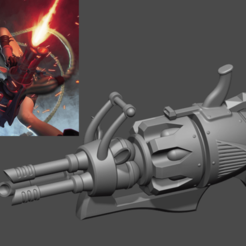 Imprimir en 3D Jinx Minigun LOL league of legends - Fan Art Modelo de impresión en 3D, adesign9x