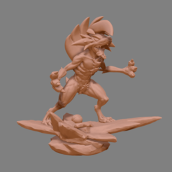 Télécharger objet 3D Pokemon Lycanroc Midnight - Fan Art - Modèle d'impression 3D Figure Modèle d'impression 3D Modèle d'impression 3D, adesign9x