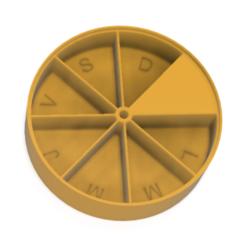 Download 3D printer designs Weekly pill dispenser, medication sorter, arnodema