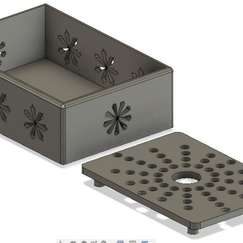 STL files Sponge box with draining tray and decoration, arnodema