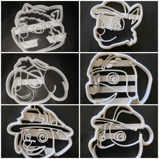 Download free 3D printer designs paw patrol cutters, cookie cutter kit set x 6, Surfer_Calavera