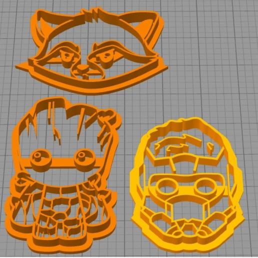 Télécharger modèle 3D gratuit set cookie cutter guardian of galaxy, Surfer_Calavera