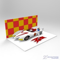Download free 3D printer model Meteoro Speed Racer diorama, Surfer_Calavera