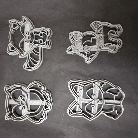 Descargar archivos STL gratis Animales nordicos cortantes cookie cutters, Surfer_Calavera