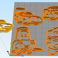 Download free 3D printer model Cookie cutter set Cars movie, Surfer_Calavera