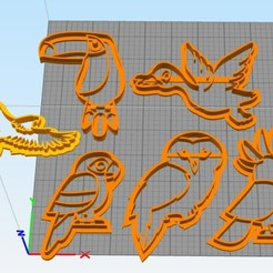 Imprimir en 3D gratis cookie cutter animals, Surfer_Calavera