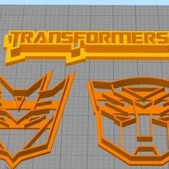 Download free STL file set cookie cutter transformers, Surfer_Calavera