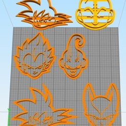 Download free 3D print files cookie cutters set dragon ball, Surfer_Calavera