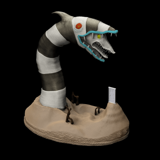 Download 3D printing models Beetlejuice Sandworm, prototypes_and_pixie_dust
