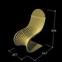 STL Chaise Paramétrique P2, craagle