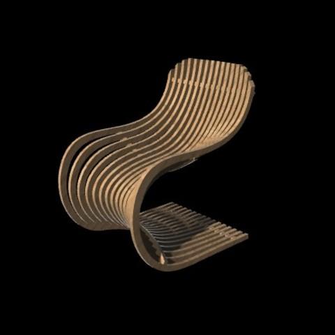 Objet 3D Chaise Paramétrique P1, craagle