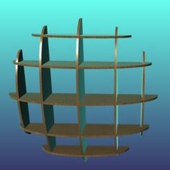 0.jpg Télécharger fichier STL Étagère - Cercle 1000 • Design imprimable en 3D, craagle