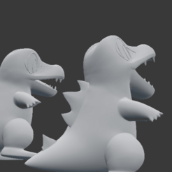 Download free 3D printing templates Totodile, SnK3D