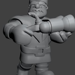 Download STL files Hunter - Clash Royale - Hunter, SnK3D