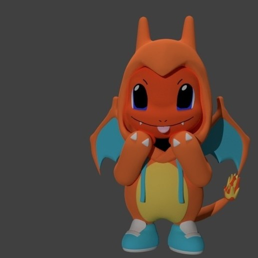Download STL Charmander in a Costume, SnK3D