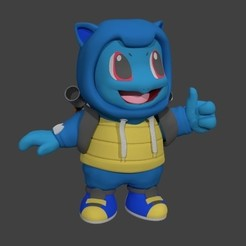 Download STL file Squirtle on a Costume, SnK3D
