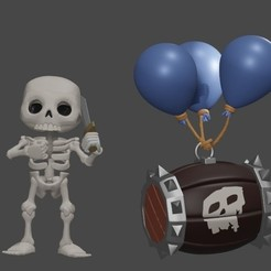 Download 3D printing templates Clash Royale Skeleton, SnK3D