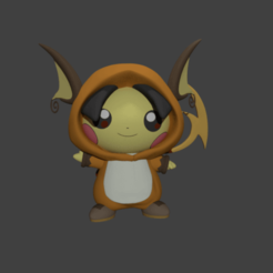 Download 3D printing designs Pichu on Raichus Costumes + Normal Pichu, SnK3D