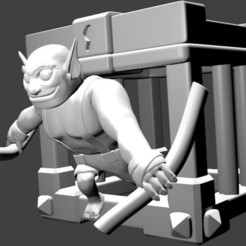 Download 3D printing models Goblin Cage - Goblin Brawler - Clash Royale, SnK3D