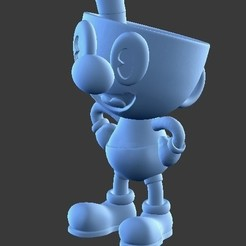 Download 3D printing models CupHead, SnK3D