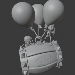 Download 3D printing files Clash Royale Skeleton Barrel, SnK3D