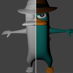 Download free 3D printing designs Perry the platypus - Agent P., SnK3D