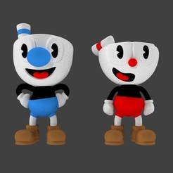 Download STL file CupHead & MugMan, SnK3D