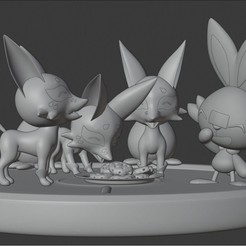 Download 3D printing designs Dirty Scorbunny Nickit Eat Time Diorama, SnK3D