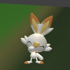Download 3D printer templates Scorbunny, SnK3D