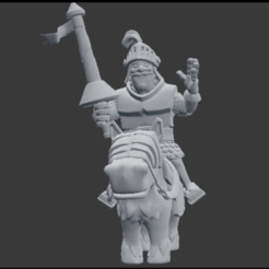 Download 3D print files Prince Clash Royale, SnK3D