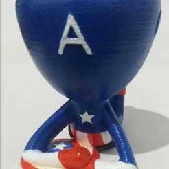Cap3.jpg Télécharger fichier STL gratuit Les navires de la discorde - Les vengeurs - Captain America • Objet imprimable en 3D, Primeira_Impressao